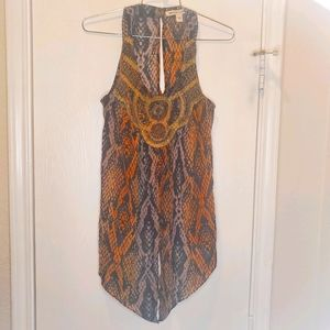 Andrew Charles Tunic Blouse sz Small